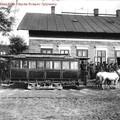 Lóvasúti megállóhely a Közvágóhídnál az 1880-as években