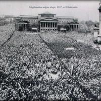 Nagygyűlés a Hősök terén 1957 május 1-én