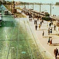 Margit Híd Budai Hídfő - HÉV végállomás a 60-as években
