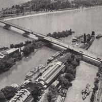 Az Árpád híd Margitsziget - Buda közti szakasza 1966-ban
