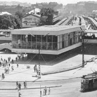 A Déli Pályaudvar ideiglenes üvegcsarnoka 1962 és 1973 között.