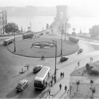 A Clark Ádám tér 1954-ben