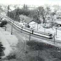 A Filatorigátnál található teherpályaudvar és HÉV megálló a 70-es években
