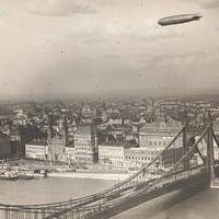 A Graf Zeppelin léghajó Budapest fölött 1931-ben