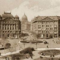 A Trianon-szoborcsoport a Szabadság téren az 1920-as években