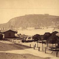 A Gellért-hegy és a Citadella az 1880-as években