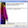Laptopra telepített web szerver