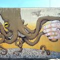 Blu és Ericailcane közös falfestménye Olaszországban