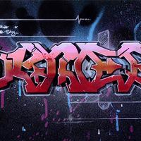 3Deneb - Fából faragott 3D graffiti festővásznon