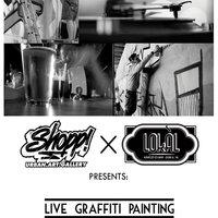 Élő graffiti festés a Lokál Kávézó és Bárban