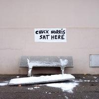 Itt ült Chuck Norris