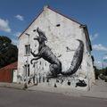 Roa és Resto közös falfestménye Heerlenben
