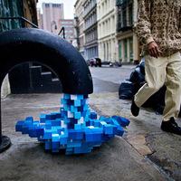 Pixelesített víz folyik New Yorkban