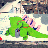 Bevásárlókocsis zöld krokodil Filatorigáton