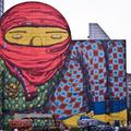 Os Gemeos falfestmény Bostonban - The Giant of Boston