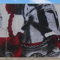 Nomadé falfestmény Los Angeles belvárosában