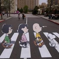 Peanuts' x Abbey Road - Lennon helyett Snoopy