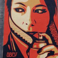 Új Shepard Fairey falfestmény Bécsben