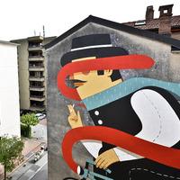Új Agostino Iacurci falfestmény Luganoban
