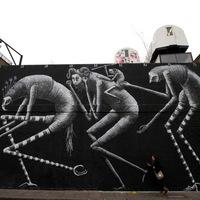 Phlegm új festményei Londonban