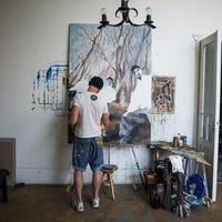 Riez Joci 'HOEK' kiállítása a Telepen