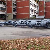 Phlegm új falfestménye Zágrábban