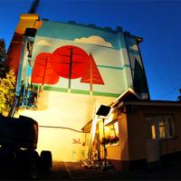 Rapa, Rouge és Bohóc új falfestménye