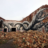 Phlegm új falfestménye Sheffieldben