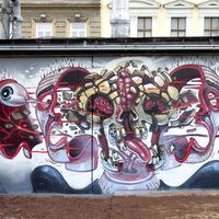 Nychos új falfestményei Bécsben