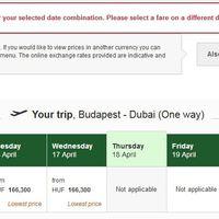A budapesti Emirates járatokra is hatással lesz a dubaji pályazár!