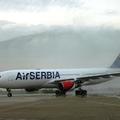 Átvette első szélestörzsű repülőgépét az AirSerbia!