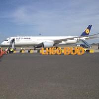 A legmodernebb Lufthansa repülőgép látogatott el Budapestre