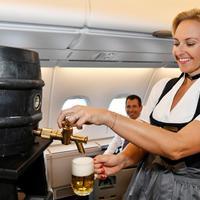 Csapolt sör a Lufthansa hagyományőrző járatain!
