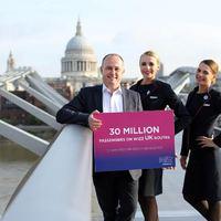 Wizz Air: 30 millió utas a brit járatokon