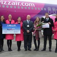 Elérte az 1 millió főt a Wizz Air utasszáma Debrecenben!