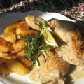 Zöldfűszeres citromos csirke ropogós tepsis burgonyával