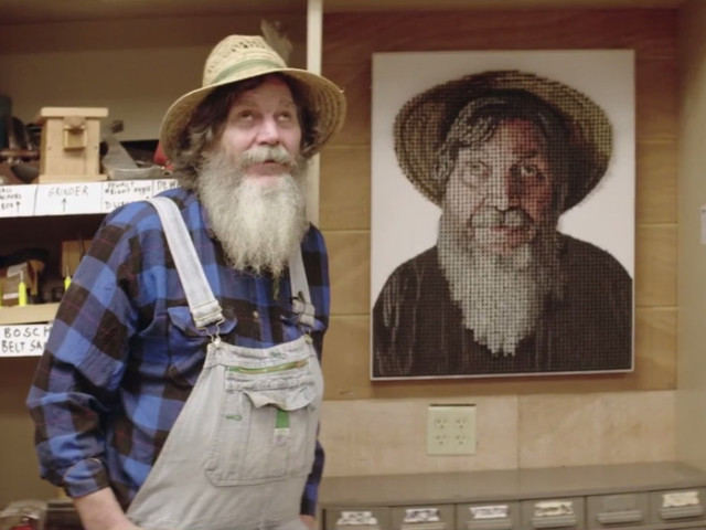 Csavarokból készítettek portrét a vak művésznek - önmagáról! 8c6be8ea2f