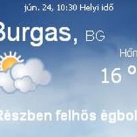 Bulgária időjárás 06.24