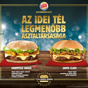 A Mikulás és a Krampusz a Burger Kingbe érkezett!