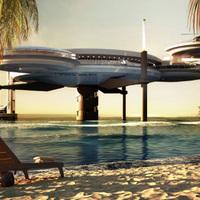 Lezuhant űrhajó lesz a Maldív-szigetek legmenőbb szállodája