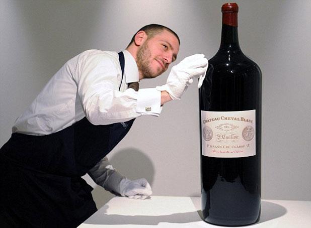 144 pohár Château Cheval Blanc egyetlen palackból