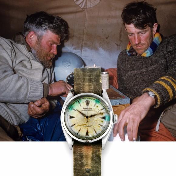 Árverésen az első Himaláját megmászó ember Rolexe