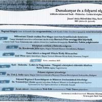 Dunai régészeti konferencia Szobon