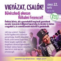 Kőhalmi Ferenc önálló estje a Napfényes Étteremben