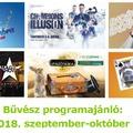 Bűvész programajánló: 2018. szeptember-október