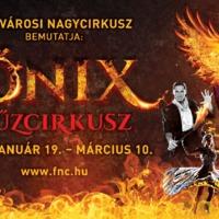 Nagy Molnár Dávid a FŐNIX –Tűzcirkusz előadásban a Fővárosi Nagycirkuszban