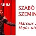 Szabó István Szeminárium a Corodiniben - március 22.