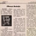 Rodolfo halálhíre a sajtóban