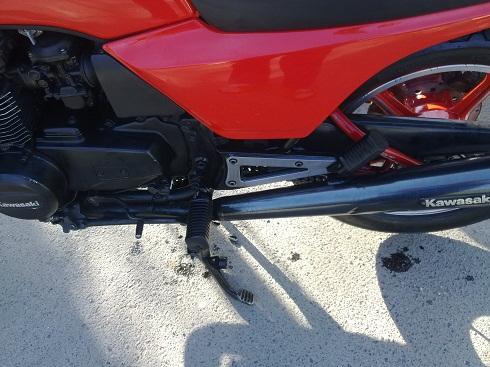 Motorkerékpár olajba benzin