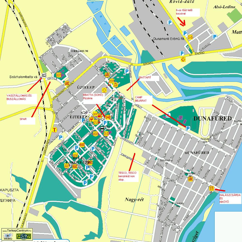 ercsi térkép TÉRKÉP FONTOSABB HELYEKKel   LB27 Reggae Camp 2008 ercsi térkép